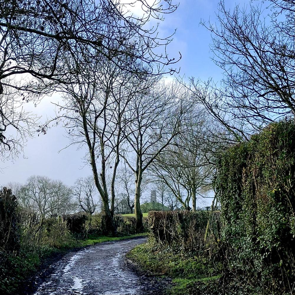 Stone Down Lane, view tothe Tor